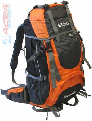 ACRA Batoh pro horskou turistiku 60l Brother šedo-oranžový