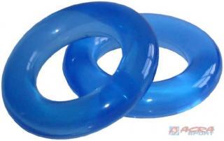 ACRA Kroužky posilovací set silič na ruce 2 kusy modré 7cm