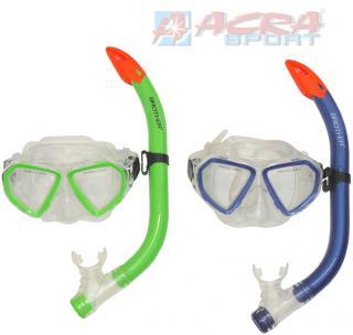 ACRA Potápěčská sada junior brýle a šnorchl 2 barvy
