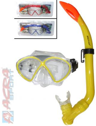 ACRA Sada potápěčská s brýlemi a šnorchlem různé druhy