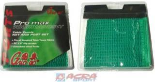 ACRA set síťka na stolní tenis Brother zelená s obrubou