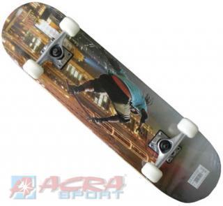 ACRA Skateboard závodní ocelový podvozek s obrázkem 79x20cm