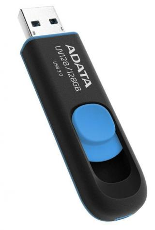 Adata UV128 128GB černý/modrý  - zánovní