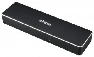 AKASA Affinity TB3 duální dokovací stanice / Dual 4K / 2x DP / HDMI /  VGA / LAN / 2x USB 3.1 Gen1 / Thunderbolt 3, A-NDK02-12BKEU