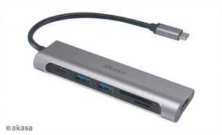 AKASA - externí USB hub - USB 3.1 typ C 6-in-1, AK-CBCA14-18BK