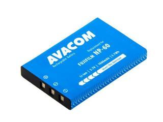 Akumulátor pro video/foto Avacom Fujifilm NP-60, Li-Ion 3.7V 1000mAh 3.7Wh