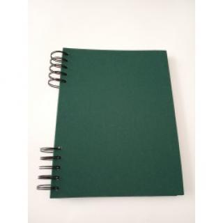 Album DeLux - Khaki zelená A4 stojící - černé listy  170116