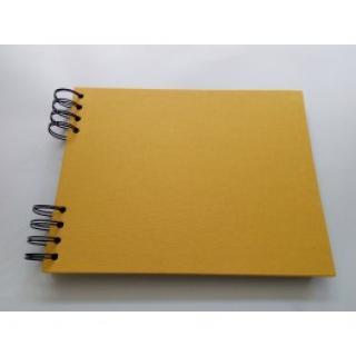 Album DeLux - Žlutá A5 ležící - černé listy  170508