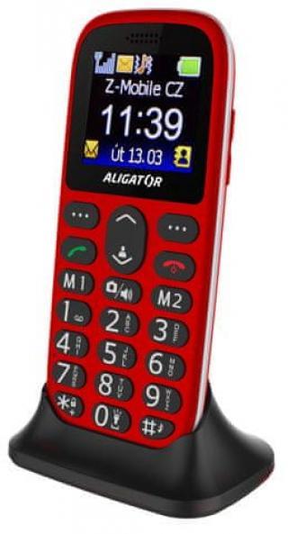 Aligator A510 Senior červený   stol. nab. - zánovní