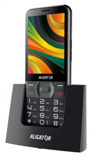 Aligator A900 GPS Senior, černý   stolní nabíječka - použité