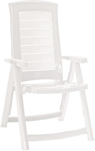 Allibert ARUBA zahradní židle polohovací, bílá - použité