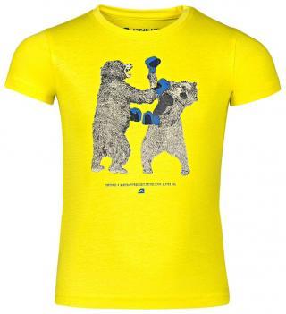 ALPINE PRO Chlapecké tričko 128-134 žlutá
