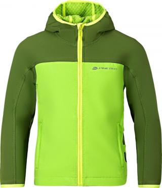 ALPINE PRO Dětská bunda NOOTKO 5 116-122 zelená - zánovní