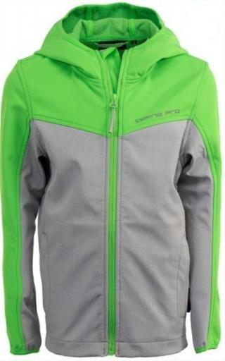 ALPINE PRO KJCN138563R_128_134_s19 Dětská softshellová bunda Yuriko - zeleno-šedá