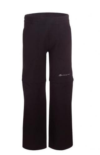 ALPINE PRO KPAN131990_110_s19 Dětské softshellové kalhoty Pantaleo - černé