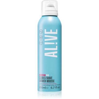 AL!VE Magnesium Plus Clean & Shave sprchová pěna na holení 200 ml