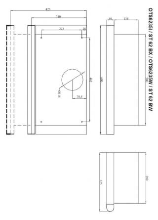 Amica ST 62 BX vestavná digestoř - rozbaleno