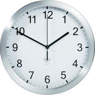 Analogové dcf nástěnné hodiny tfa 25 cm, bílá