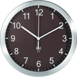 Analogové dcf nástěnné hodiny tfa 25 cm, hnědá