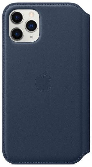 Apple iPhone 11 Pro Leather Folio - Deep Sea Blue MY1L2ZM/A - rozbaleno
