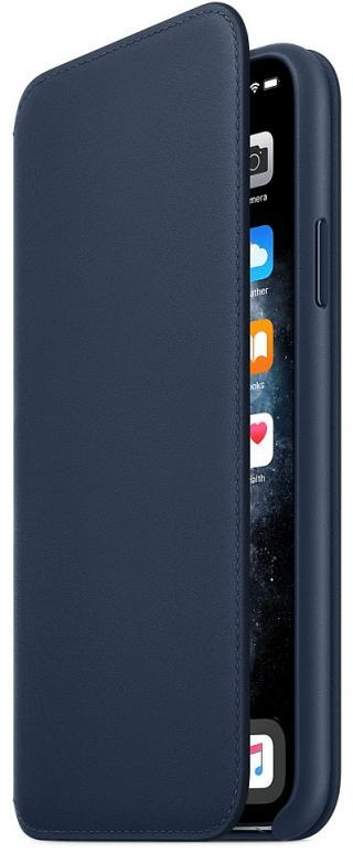 Apple iPhone 11 Pro Max Leather Folio - Deep Sea Blue MY1P2ZM/A
