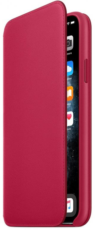 Apple iPhone 11 Pro Max Leather Folio - Raspberry MY1N2ZM/A