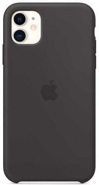 Apple iPhone 11 silikonový kryt, černý MWVU2ZM/A - zánovní