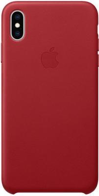 Apple Kožený Kryt Na Iphone Xs Max Red, Červená mrwq2zm/A