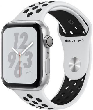 Apple Watch Nike  Series 4, 40mm, pouzdro ze stříbrného hliníku/platinově-černý řemínek MU6H2HC/A - rozbaleno