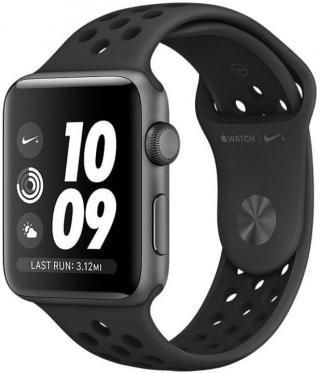 Apple Watch Series 3 Nike  GPS, 42mm Space Grey Aluminium Case with Anthracite/Black Nike Sport Band