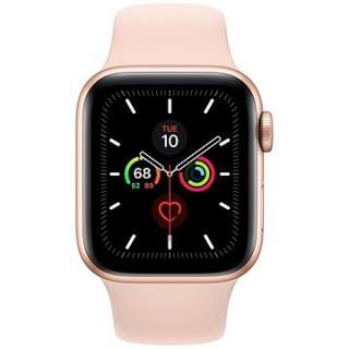 Apple Watch Series 5 40mm Zlatý hliník s pískově růžovým sportovním řemínkem