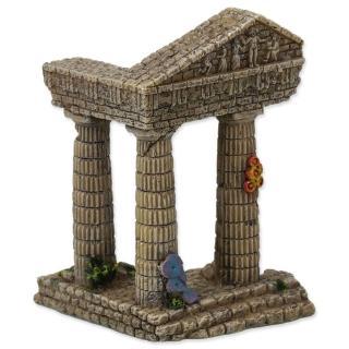 Aqua Excellent Dekorace akv. Zřícenina chrámu 7,5x6,8x9,7 cm - rozbaleno