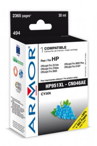 Armor ink-jet pro HP OJ 8100/8600 cyan, 30ml, B20418R1