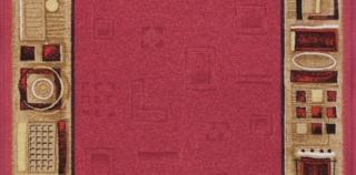 Associated Weavers koberce Protiskluzový běhoun na míru Jena 10 - šíře 67 cm s obšitím Fialová