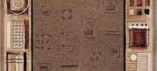 Associated Weavers koberce Protiskluzový běhoun na míru Jena 44 - šíře 67 cm s obšitím Hnědá