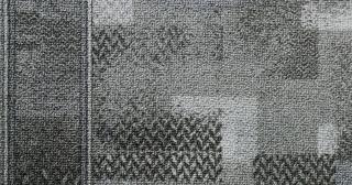 Associated Weavers koberce Protiskluzový běhoun na míru Tribe 98 šedý - šíře 80 cm s obšitím Šedá