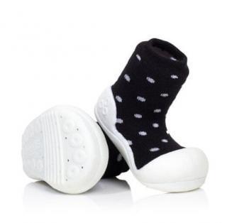 Attipas dětské botičky Urban Dot 19 černá/bílá - zánovní