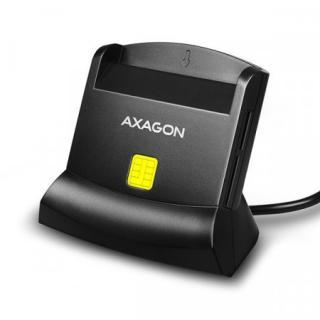 AXAGON CRE-SM2, USB externí čtečka 4-slot Smart card/ID card    SD/microSD/SIM, CRE-SM2