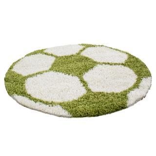 Ayyildiz koberce Kusový koberec Fun 6001 green - 100x100 kruh cm Bílá