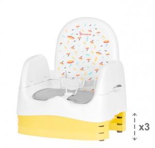 Badabulle přenosná židlička HOME&GO bílá - rozbaleno