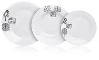 Banquet Sada talířů TIMBER, 18 ks - rozbaleno