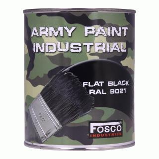 Barva nátěrová 1l Fosco - černá