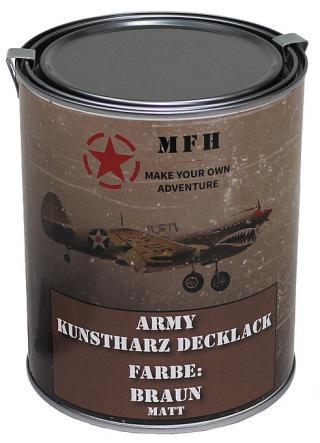 Barva v plechovce MFH 1 litr - hnědá
