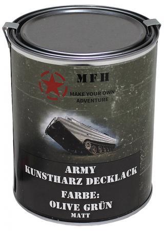 Barva v plechovce MFH 1 litr - olivegrün
