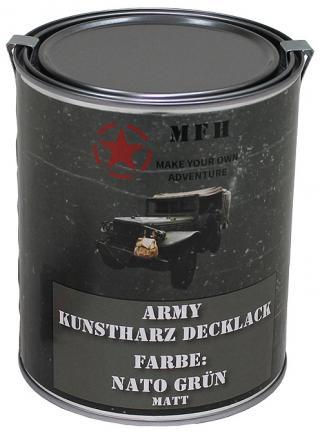 Barva v plechovce MFH 1 litr - olivová