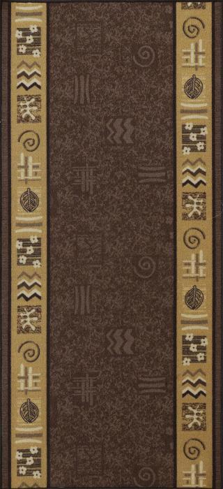 Berfin Dywany Protiskluzový běhoun na míru Zel 1003 Brown - šíře 67 cm s obšitím Hnědá