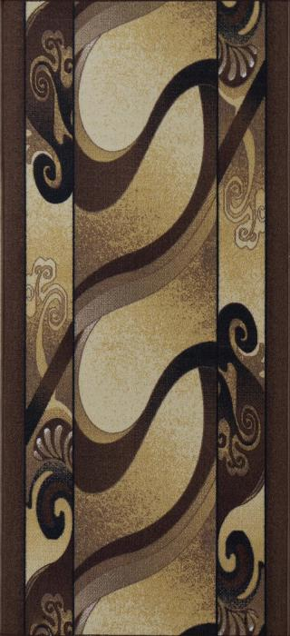 Berfin Dywany Protiskluzový běhoun na míru Zel 1012 Brown - šíře 80 cm s obšitím Hnědá