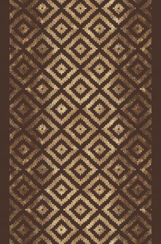 Berfin Dywany Protiskluzový běhoun na míru Zel 1018 Brown - šíře 80 cm s obšitím Hnědá