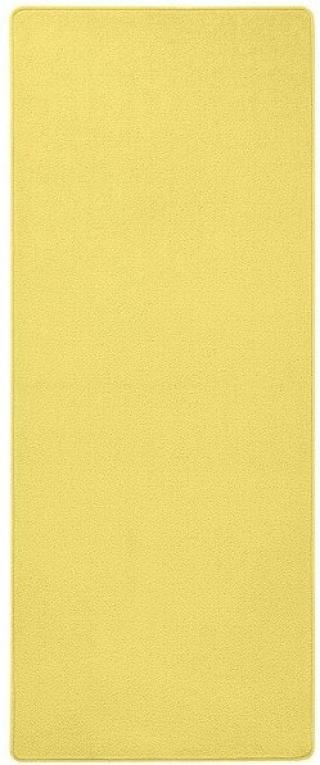 Betap koberce Běhoun na míru Eton 2019-502 žlutý - šíře 60 cm s obšitím Žlutá