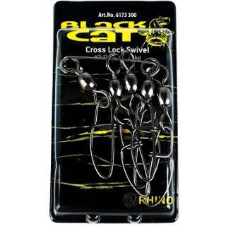 Black Cat s karabinkou Cross Lock Swivel Velikost 3/0 70kg 5ks